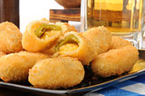 Jalapeno cheese sticks and beer