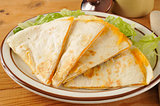 Cheese quesadillas on lettuce