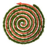 Green grass maze, 3D