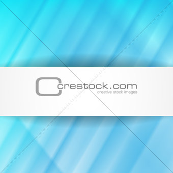 Blue abstract background with white banner