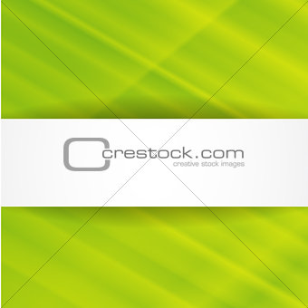 Green abstract background with white banner