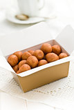 marzipan balls in gift box