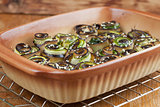 Baked eggplant and zucchini with hemp seed
