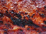 barbecued meat texture background