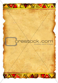 Old parchment with African traditional patterns