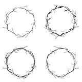 Floral Round Wreath Set