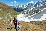 Summer Stelvio Pass (Italy) and family