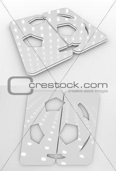 Football Symbol White Colourless Template