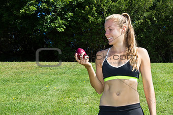 Fit, healthy woman making good nutrition choices
