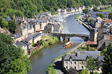 Dinan on the Rance, Brittany, France