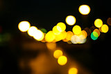 Colored bokeh background