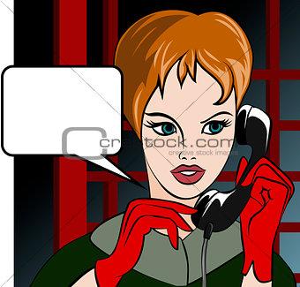 Calling girl