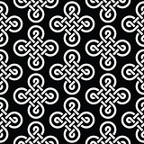 Celtic irish knots seamless pattern, vector background