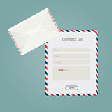Simple message form and classic envelope