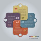 Infographic Tags with 4 options or steps