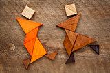 dancing tangram figures
