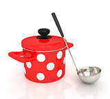 Pan with a ladle.