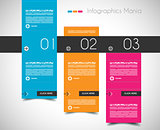 Infographic design template with flat design panels