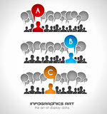 Infographics concept background to display your data