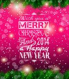 2014 Christmas Vintage typograph design