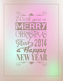 2014 Merry Christmas Vintage typo background