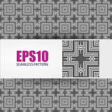 Vector geometric seamless pattern,
