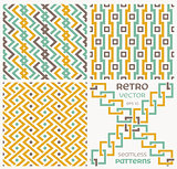 Set of seamless textures in retro style