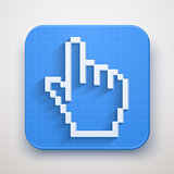 Pixel cursor icons mouse click hand