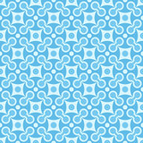 Simple vector seamless geometric blue pattern