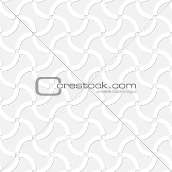 Abstract vector seamless design - winding light gray lines