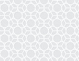 Vector abstract seamless pattern - circles and hexagons