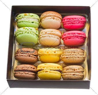 box full of  macaroons