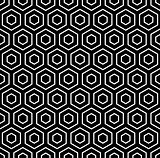 Hexagons texture. Seamless geometric pattern