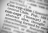 Macro image of dictionary definition of concept