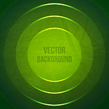 Vector Geometric Background. Grunge Background with green paper circles