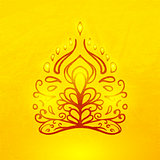 Vector abstract doodle buddha
