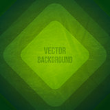 Vector Geometric Background. Grunge Background with green paper squares