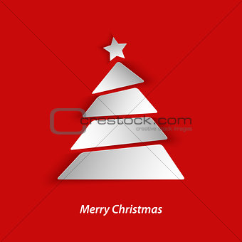 Abstract Christmas card with tree