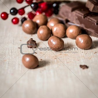 Closeup chocolate