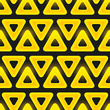 Retro pattern of geometric shapes. Seamless vector pattern with triangles