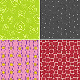 Colored vector seamless patterns