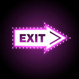 Glossy arrow with exit message