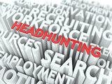 Headhunting. Wordcloud Concept.