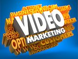 Video Marketing. Wordcloud Concept.