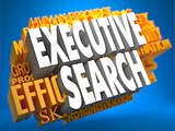 Executive Search. Wordcloud Concept.