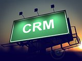 CRM - Billboard on the Sunrise Background.