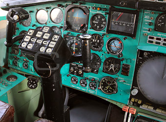 Airplane Cockpit  Tu-144.