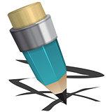 Blue pencil
