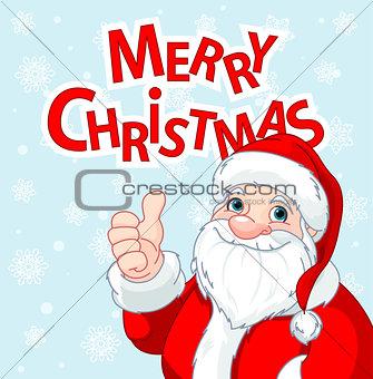 Thumbs Up Santa Claus greeting card