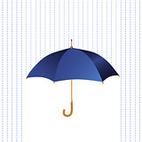 Umbrella icon with rain.